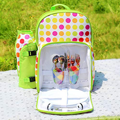 Fantastic Deal! Picnic Backpacks Backpack for picnic With full stainless steel cutlery Cooler insula...