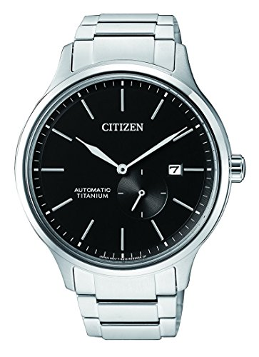 Citizen Herren Analog Mechanik Uhr mit Titan Armband NJ0090-81E