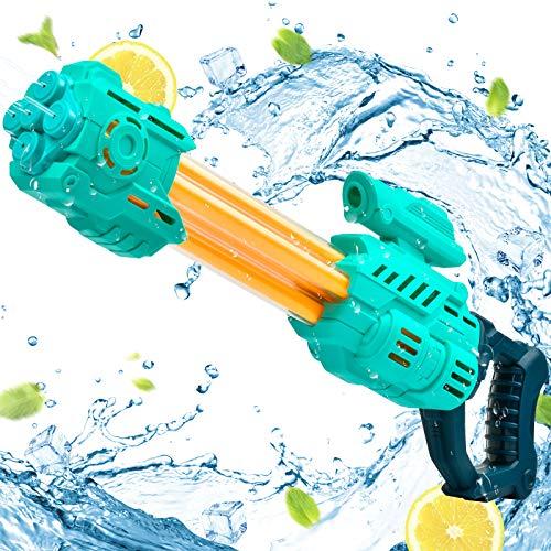 KATELUO Pistola de Agua, Pistola de Agua de Juguete para Niñas de Niños, Potente Chorro de Agua con 8-10 M de Largo Alcance, Pistolas de Agua de Gran Capacidad para Batalla de Agua, Playa, Piscina (B)