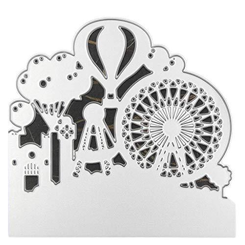 lixiaoxuty - Plantillas de Metal para Hacer Tarjetas, Scrapbooking, Acero al Carbono, Plantilla para repujar, Manualidades, para Regalo de cumpleaños