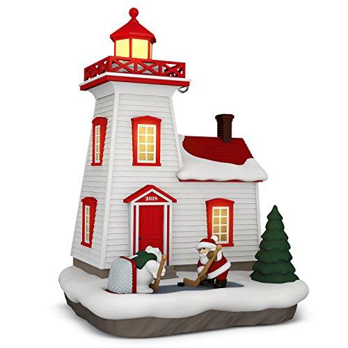 Hallmark Keepsake Christmas Ornament 2018 Year Dated, Holiday Lighthouse With Light