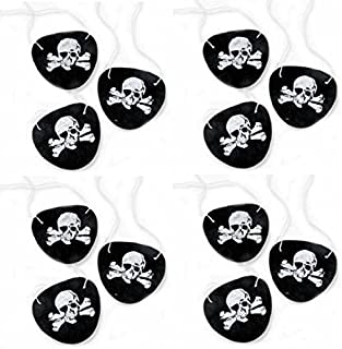 Super Z Outlet Black Felt Pirate Captain Eye Patches Skull Crossbones for Children Party Favors and Costume Prop (24 Pack)
