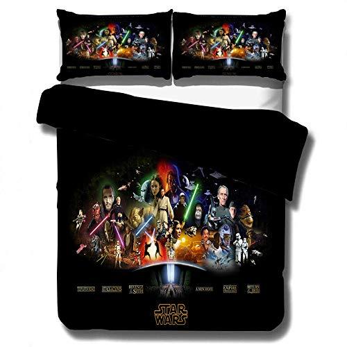 SixyeLiuzhi Star Wars 3D Bettwäsche Set Print bettbezug Twin voll königin könig Echt lebensechte Bett Sets Gute qualität Kissenbezug 3 stücke,150x200cm(3Stück)