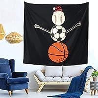 ボール雪だるま タペストリー 壁掛け布 ポスタータペストリー ファブリック おしゃれ 室内装飾 部屋 お店 多機能 150cm×150cm