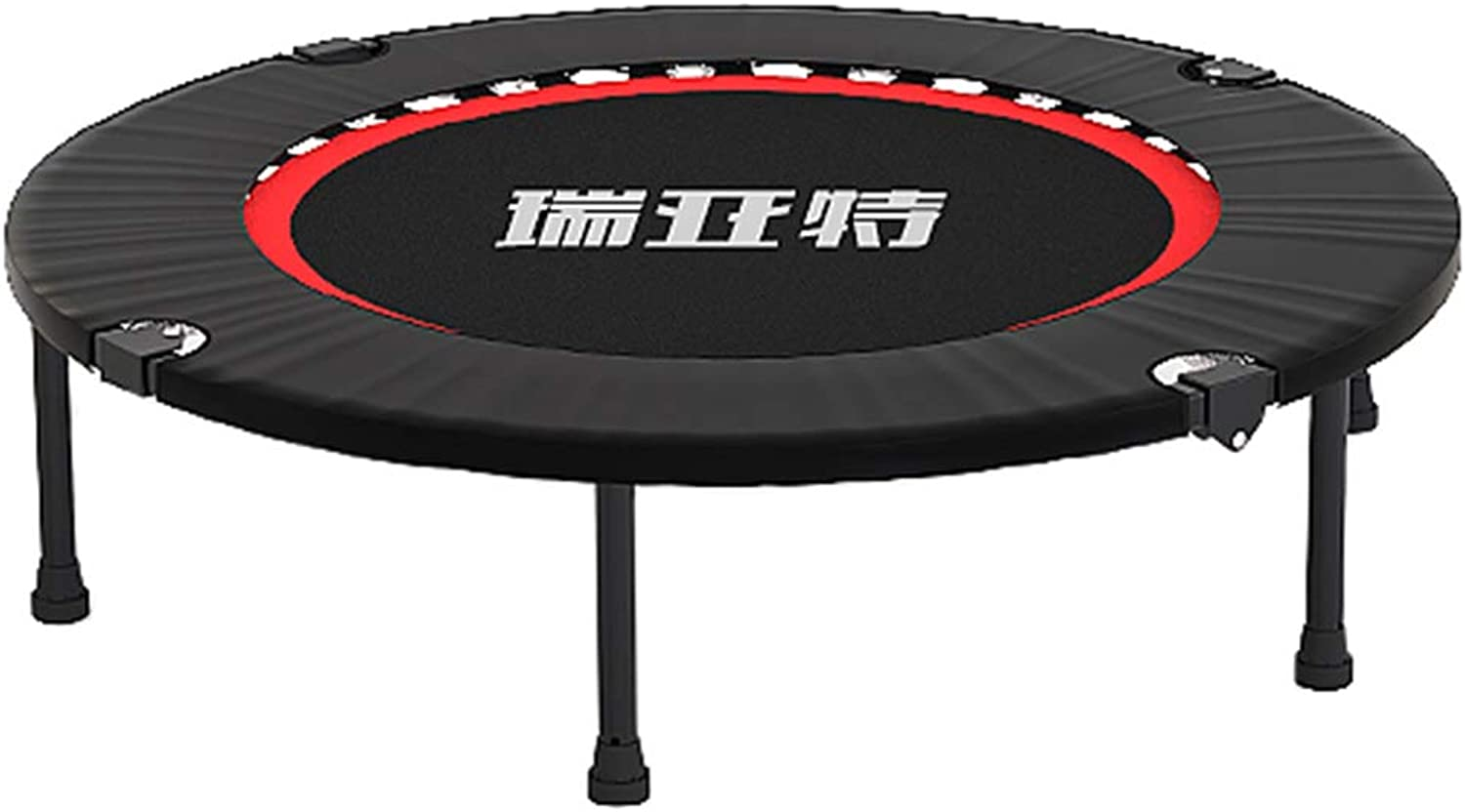 LXLA - Mini Foldable Trampoline 40 Inch, Black Fitness Bouncer for Adults Kids - Max Load 200KG