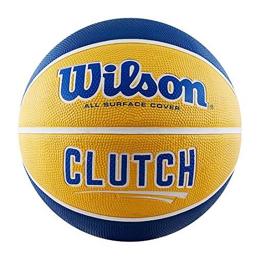 WILSON Unisex-Adult Clutch Basketball, Blau/Gelb, 7