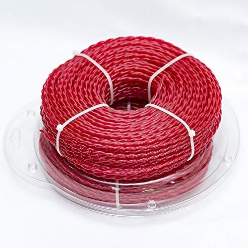 KEECARLY Cortabordes Súper Calidad de Nylon de 3,0 mm 60M Larga Espiral de Recorte Linea de Corte de Alambre for la Hierba desbrozadora