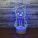 Luce da notte per bambini di colore chiaro base crepa bianca per tavolo touch da notte per bambini