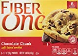 Fiber One Soft Baked Cookies - Chocolate Chunk ,1.1 Ounce , 6 Count