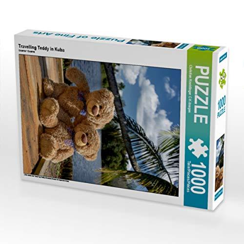 CALVENDO Puzzle Travelling Teddy in Kuba 1000 Teile Lege-Größe 48 x 64 cm Foto-Puzzle Bild von Christian Kneidinger