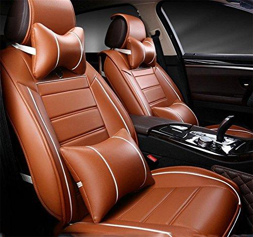 AMYMGLL Car Seat Cover PVC cuir Deluxe Edition (13Réglez) Coussin voiture RÉGL.GÉNÉRAUX Four Seasons 3 couleurs , #30