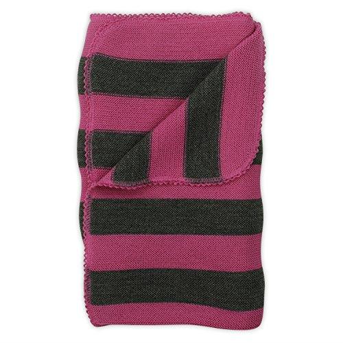Reiff Babydecke Ringelwickeltuch in Farbe Pink-Fels, Größe 95x80 cm aus 100% Schurwolle kbT - Vertireb nur durch Wollbody®