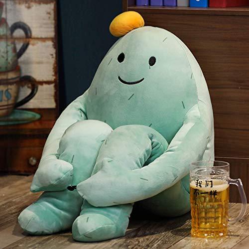 XIAN Llamamiento Sistema de curación Sistating Cactus Emoticon Pack Peluche Toy Banana Man Dolls Regalos de cumpleaños para niños Hombre hailing (Color : 60cm, Size : Blue)