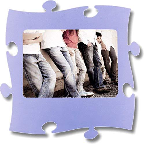 Unbekannt Rahmen Puzzle aus Holz–1Foto 20x 28cm–Hellblau