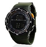 TONSHEN Deportivos Relojes de Pulsera Hombre Digitales LED Outdoor 50M Resistente Agua Militares Táctica 12H/24H Tiempo Plástico Bisel Y Párrafo Correa Goma para Viaje Aventura Running