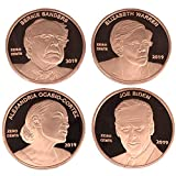 2019 First-edition, one-of-a-kind Democrat penny coins! Just as fun as your Donald Trump Coins! These coins are die-struck and engraved by expert craftsmen, polished for a look you'll be proud to showcase. SIZE: 30mm x 2mm, which is larger than a nor...