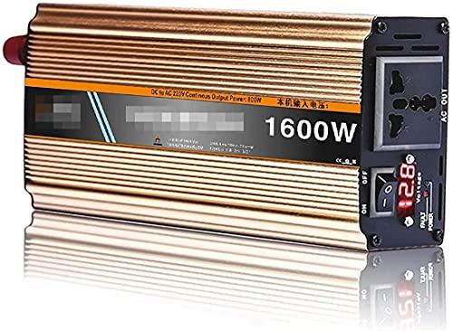 KONGLZG Inversor de Potencia de Onda sinusoidal Pura 1600W / 2200W DC 12V-72V al convertidor AC 220V con Pantalla LED