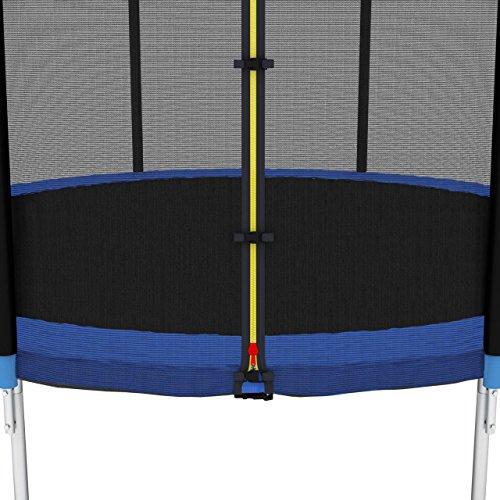 Kinetic Sports Sicherheitsnetz Trampolin Zubehör Ersatznetz für Gartentrampolin Ø ca. 250cm - Trampolin Zubehör - Trampolinnetz schwarz - UV-getestet - reißfest - Sprung-Schutz Jumper