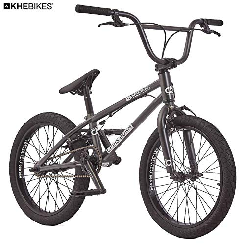 KHE Chris Böhm - Bicicletta BMX, solo 11,45 kg, colore: nero cromato