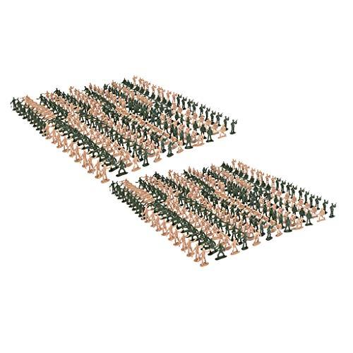 CUTICATE 720 Piezas 1:72 Escala Soldados de Plástico Estatuilla Modelo de de...