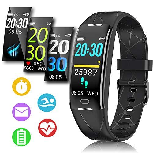 Pulsera Actividad Hombre Mujer - Pulsera Actividad Inteligente Reloj GPS Temporizador Podómetro Pulsómetro Impermeable IP68 Pulsera Deportiva Smartwatch Para Xiaomi Samsung Huawei Android iPhone iOS