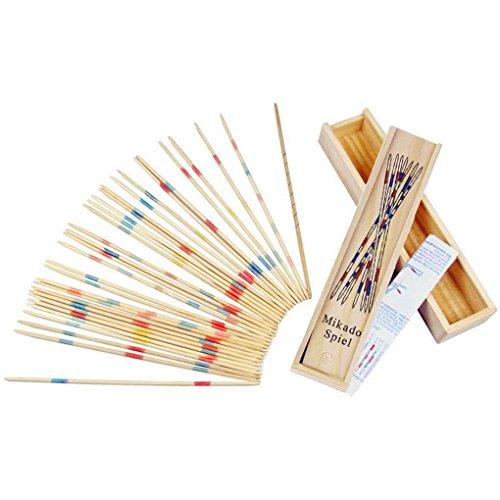 nobrand Baby-pädagogische Holz Traditionelle Mikado Spiel Pick Up Sticks mit dem Kasten Spiel, Shown,1pc