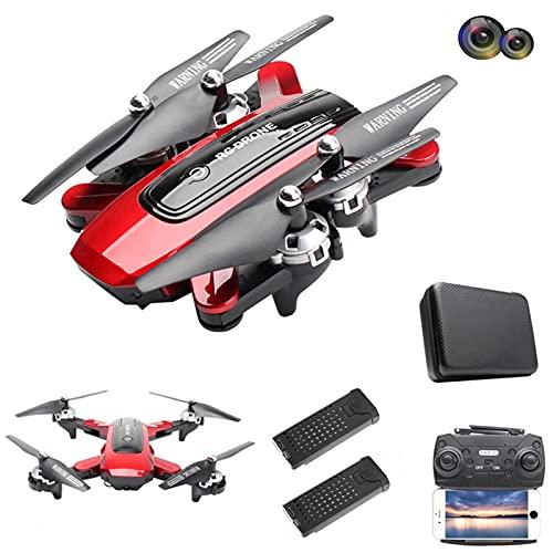 Drone GPS HJ38 com câmera dupla grande angular de 120 °, drone 5G WiFi FPV com função Follow Me, quadricóptero RC Altitude Hold dobrável com câmera 4K HD, 2 baterias