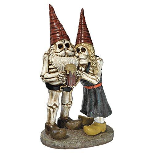 Design Toscano QM14018 Zombie Gnome - Bones and Brew Skeleton Graveyard Gnomes - Garden Gnome...