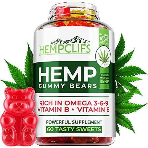 HEMPCLIFS Hemp Gummies 950,000 – Fruity Relaxing Hеmp Oil Gummies – Stress & Anxiety Relief – Effective Brain Support – with Omega 3, 6, 9 & Vitamin E, B – Promotes Good Sleep & Boosts Immunity