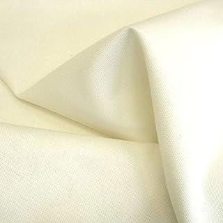 Baumwollstoff Segeltuch mittelschwer - Polsterstoff/Möbelstoff als Meterware am Stück Creme-Weiß