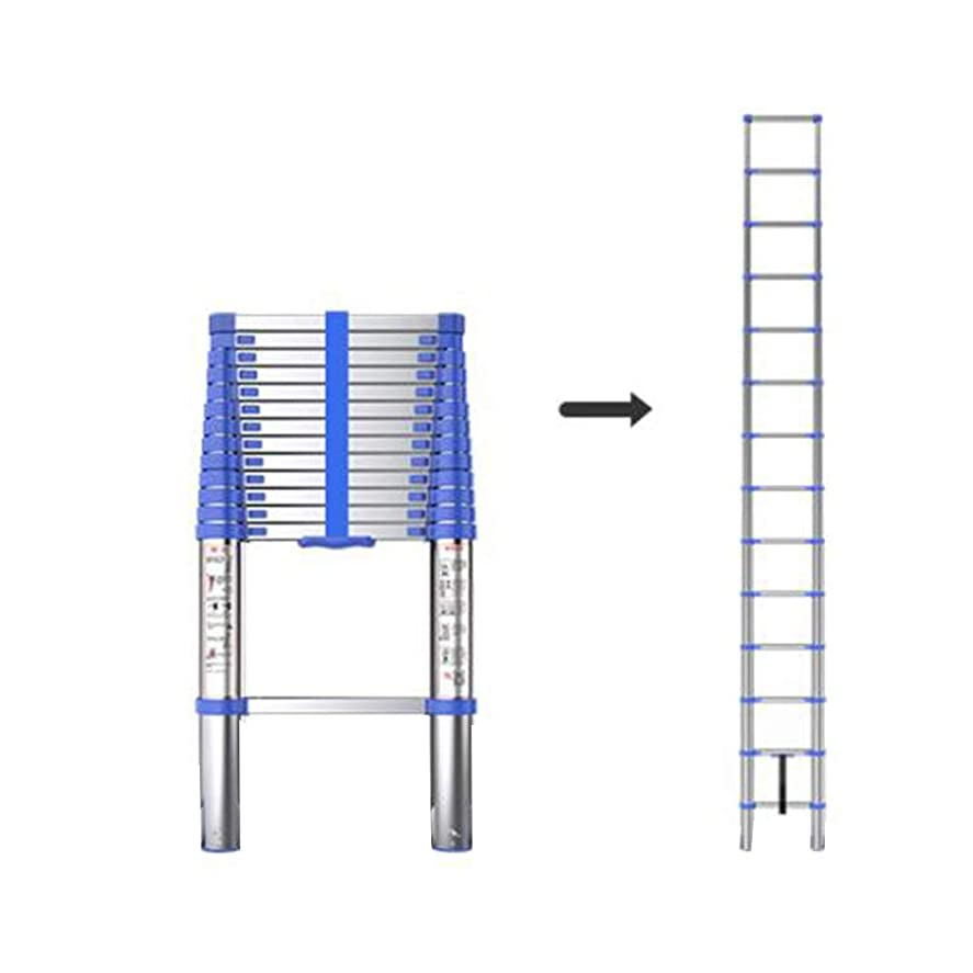 人柄しなやかな目を覚ますXEWNEG アンチスキッドラダー、ポータブルロフト屋外階段を持ち上げるアルミ伸縮はしご、多機能折りたたみ世帯 (Size : 2.65M(8.7FT))