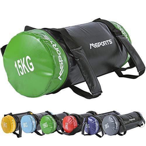 MSPORTS Power Bag Premium 5-30 kg Fitness Bag - Sandsack für Functional Fitness Gewichtssack (15 kg)