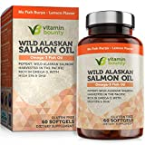 Omega 3 Fish Oil From Wild Alaskan Salmon - The Best & Purest Kind of Fish Oil - High in EPA, DHA, Omega 3, 6 and 9
