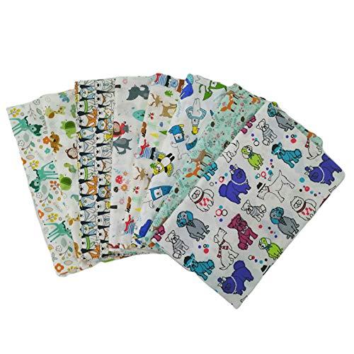 YSoutstripdu - 8 pezzi in tessuto di cotone con motivo a cartoni animati per la realizzazione di tessuti, artigianato, fai da te, cucito, patchwork, 25 x 25 cm