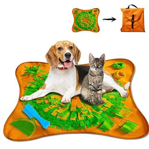 ZAHRVIA Alfombrilla Snuffle Mat para Perros, Juguetes interactivos duraderos para Perros, Juguete Interactivo del coeficiente Intelectual de la Comida