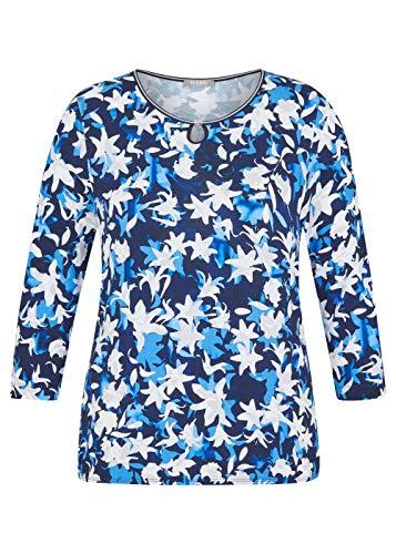 Rabe Camiseta para mujer con estampado floral y detalles brillantes. marine 46