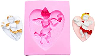 ZQWE Cupid Angel Aromatherapy Gypsum Silicone Mold Wing Angel Cross Angel DIY Decorating Cake, Chocolate, Candies, Baking ...