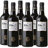 Vino dulce Pedro Ximenez Viña 25 de 75 cl - D.O. Jerez-Sherry - Bodegas Grupo Caballero (Pack de 6 botellas)
