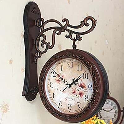 Y-Hui Double-Sided Wall Clock Living Room Mute Wall Clock On Both Sides