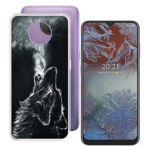 ZXLZKQ Funda para Nokia G10 (6.52 Pulgadas), Anti Deslizamiento Caso Transparente Case Silicona Suave Cover TPU Carcasa Gel Fina de Fundas para Nokia G10 - WMA28