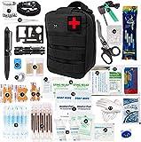 Riiai - Kit di pronto soccorso per borse di emergenza per bagagli medici, multifunzionali, pronto soccorso, kit di sopravvivenza, torcia per il deserto, arrampicata all'aperto, campeggio