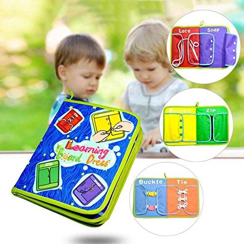 Baby Busy Board, Aprendizaje Temprano Habilidades Básicas Para La Vida Aprender, Multifuncional Baby Dress Board Libros Didácticos Juguetes Para Niños Para Bebés Educación Temprana Para Niños Pequeños