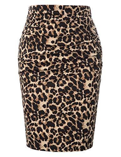 GRACE KARIN Mujer Falda Tubo Corta Leopardo Fiesta