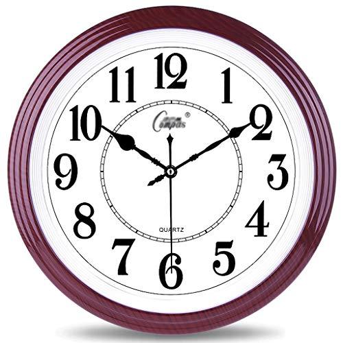 LZL 14 Pulgadas Sencillez Reloj de Pared silencioso No Ticking Fácil de Leer Relojes de Pared Decorativos para la Sala de Estar Decoración Inicio Oficina Kitche (Color : Purple)