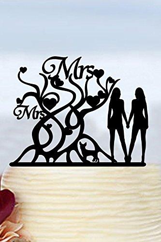 Unique Cirrus Señor y señora boda figuras de perro lesbiana boda decoración de pasteles decoración para tarta de Boda