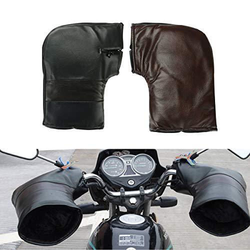 NICOLIE Motocicleta Scooter Manillar Guantes Orejeras Mano Cubierta Cálida Invierno Térmico
