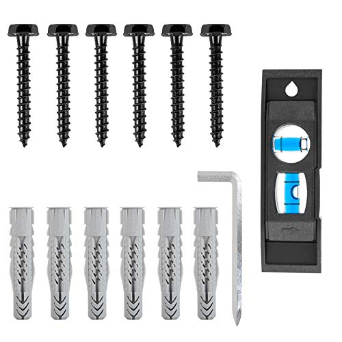 Lag Bolt Kit for TV Wall Mount Comes with M7 Lag Bolt for Wood Stud, Fischer Anchors for Concrete Wall, Includes Allen Key and Bubble Level for Easy Installation MD5752 by Mounting Dream