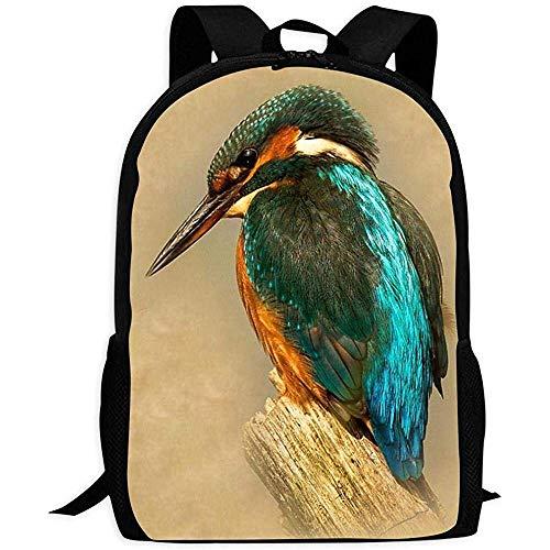Unisex Rucksack King Fisher Bookbag Reisetasche Schultaschen Laptoptasche Für Männer Und Frauen