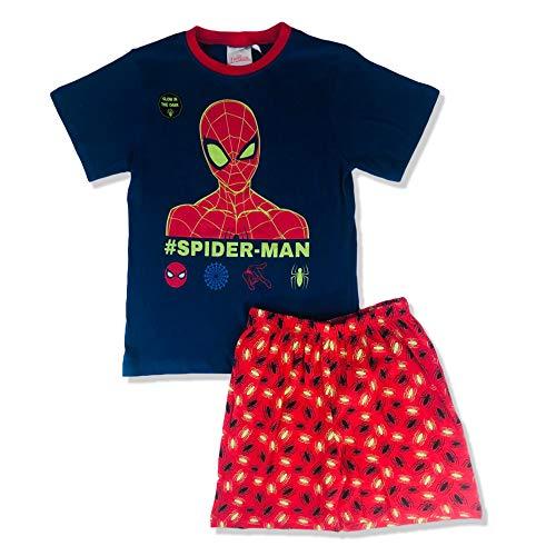 Spiderman Original Marvel - Pijama de manga corta para niñ