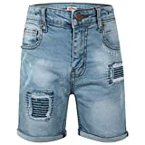 A2Z 4 Kids® Enfants Garçons Shorts Designer Bleu Clair Denim - Boys Denim Short Ripped Light Blue_11